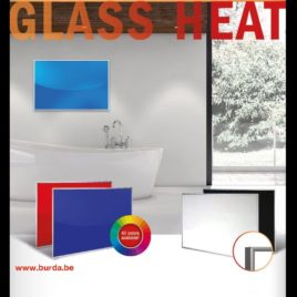 Glass Heat 500 Watt RAL-kleur naar keuze met frame